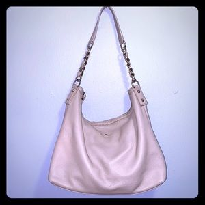 kate spade cream leather hobo bag, gold hardware